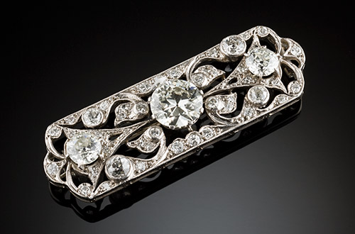 G H Palfrey, Melbourne - Art Deco Diamond Brooch