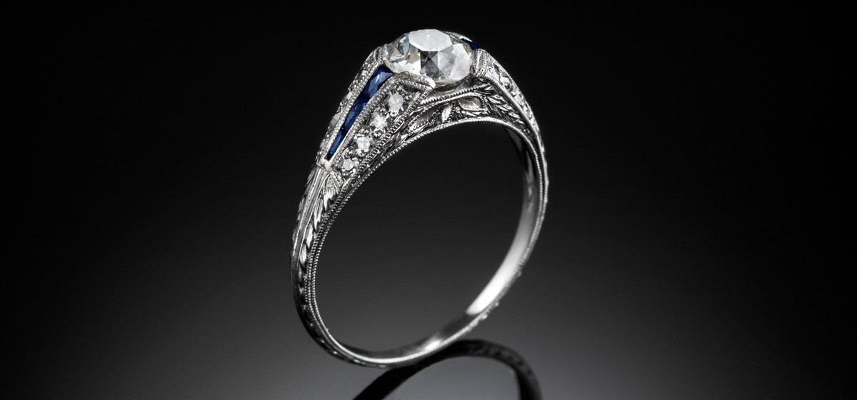 An Art Deco solitaire diamond ring