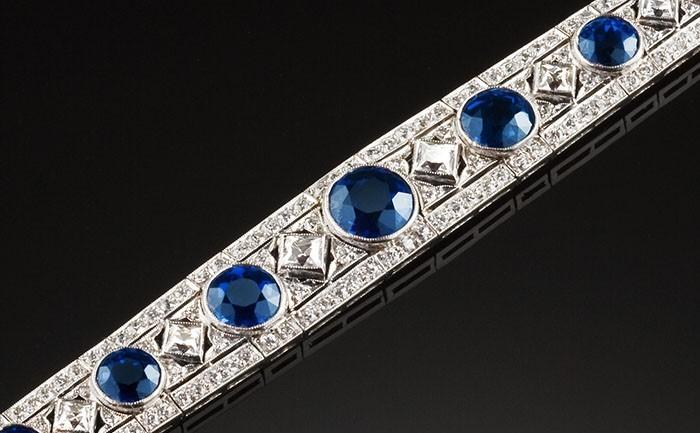 Art Deco Tiffany & Co sapphire diamond bracelet James Alfredson