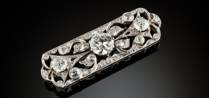 An Art Deco Australian diamond brooch by G. H. Palfrey