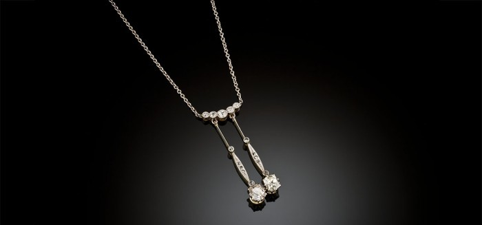 Early twentieth century diamond necklace