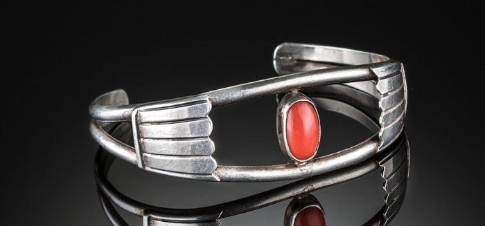 An Art Deco industrial design bangle
