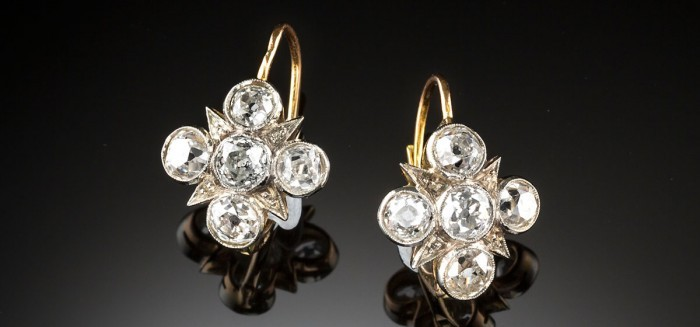 Early twentieth century diamond earrings